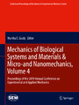 Mechanics of Biological Systems and Materials & Micro-and Nanomechanics, Volume 4 - Proceedings of the 2019 Annual Conference on Experimental and Applied Mechanics