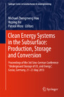 Clean Energy Systems in the Subsurface: Production, Storage and Conversion - Proceedings of the 3rd Sino-German Conference 'Underground Storage of CO2 and Energy', Goslar, Germany, 21-23 May 2013