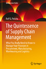 The Quintessence of Supply Chain Management - What You Really Need to Know to Manage Your Processes in Procurement, Manufacturing, Warehousing and Logistics