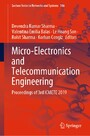 Micro-Electronics and Telecommunication Engineering - Proceedings of 3rd ICMETE 2019